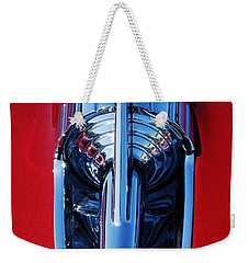 1957 Chevy Belair Hood Rocket Weekender Tote Bag by Jani Freimann