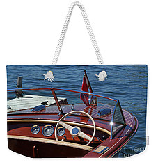 1957 Chris Craft Holiday Weekender Tote Bag