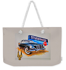 1957 Studebaker Golden Hawk Weekender Tote Bag