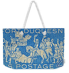 1958 Battle Of Fort Duquesne Stamp Weekender Tote Bag