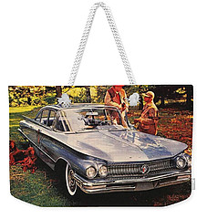 1960 - Buick Lesabre Sedan Advertisement - Color Weekender Tote Bag
