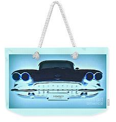 Weekender Tote Bag featuring the photograph 1960 Corvette by Greg Moores