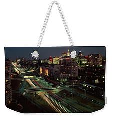 1960s Night View Vine Street Expressway Weekender Tote Bag