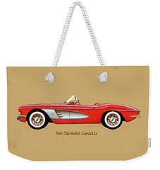 1961 Chevrolet Corvette Weekender Tote Bag
