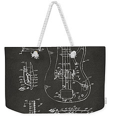 1961 Fender Guitar Patent Artwork - Gray Weekender Tote Bag