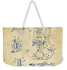 1961 Fender Guitar Patent Artwork - Vintage Weekender Tote Bag