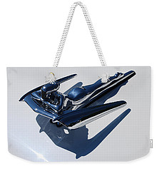 1961 Nash Winged Goddess Metropolitan Coupe Hood Ornament Weekender Tote Bag by Jani Freimann