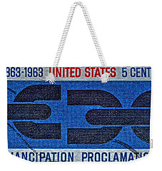 1963 Emancipation Proclamation Stamp Weekender Tote Bag