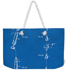 1963 Space Capsule Patent Blueprint Weekender Tote Bag by Nikki Marie Smith