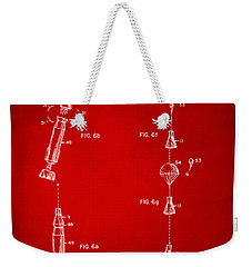 1963 Space Capsule Patent Red Weekender Tote Bag by Nikki Marie Smith