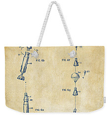 1963 Space Capsule Patent Vintage Weekender Tote Bag by Nikki Marie Smith
