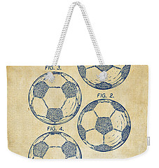 1964 Soccerball Patent Artwork - Vintage Weekender Tote Bag by Nikki Marie Smith