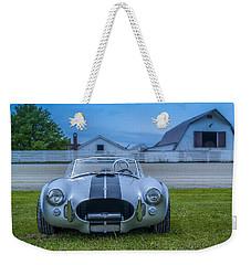 1965 Ford Shelby Cobra American Roadster Weekender Tote Bag by Ken Morris