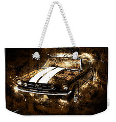 1965 Ford Shelby Mustang Gto-350 #5 Weekender Tote Bag