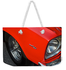 1965 Plymouth Belvedere Weekender Tote Bag by Mark Dodd