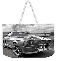 1967 Eleanor Mustang In Black And White Weekender Tote Bag
