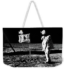 1969 Astronaut Us Flag And Leg Of Lunar Weekender Tote Bag