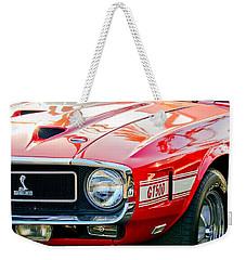 1969 Shelby Cobra Gt500 Front End - Grille Emblem Weekender Tote Bag