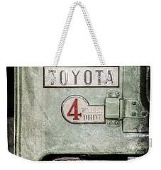 1969 Toyota Fj-40 Land Cruiser Taillight Emblem -0417ac Weekender Tote Bag