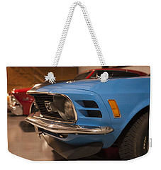 1970 Mustang Mach 1 And Other Classics Hidden In A Garage Weekender Tote Bag