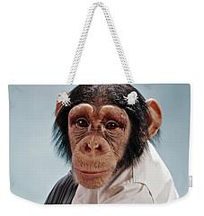1970s Close-up Face Chimpanzee Looking Weekender Tote Bag
