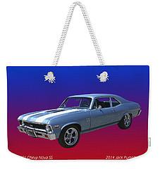 1971 Chevy Nova S S Weekender Tote Bag by Jack Pumphrey