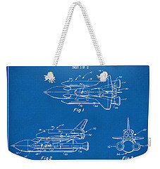 1975 Space Shuttle Patent - Blueprint Weekender Tote Bag