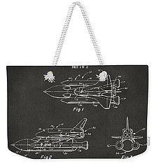 1975 Space Shuttle Patent - Gray Weekender Tote Bag by Nikki Marie Smith