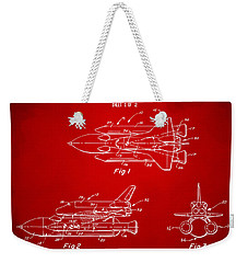 1975 Space Shuttle Patent - Red Weekender Tote Bag by Nikki Marie Smith