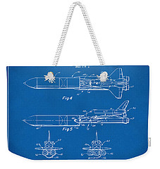 1975 Space Vehicle Patent - Blueprint Weekender Tote Bag by Nikki Marie Smith