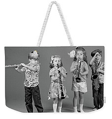 1980s Two Boys And Two Girls Playing Weekender Tote Bag