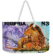 1993 Nigerian Lion Stamp Weekender Tote Bag