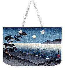 19th C. Moonlit Japanese Beach Weekender Tote Bag