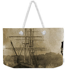 19th Century Schooner Weekender Tote Bag