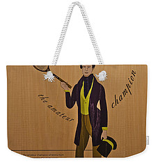 19th Century Tennis Player 3 Weekender Tote Bag by Maj Seda