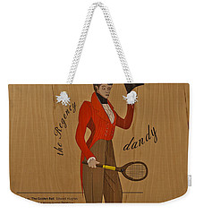 19th Century Tennis Player Weekender Tote Bag by Maj Seda