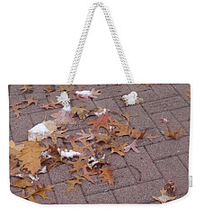 Weekender Tote Bag featuring the photograph 1st Snow Detail by Christina Verdgeline