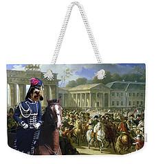 Petit Basset Griffon Vendeen Art Canvas Print  Weekender Tote Bag by Sandra Sij