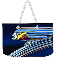 1939 Pontiac Silver Streak Chief Hood Ornament Weekender Tote Bag
