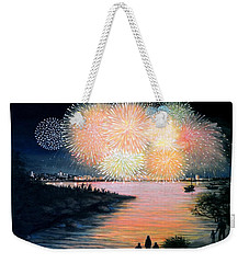 4th Of July Gloucester Harbor Weekender Tote Bag by Eileen Patten Oliver