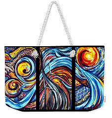 Weekender Tote Bag featuring the painting A Ray Of Hope by Harsh Malik