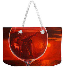 A Toast To Love And Wine Weekender Tote Bag