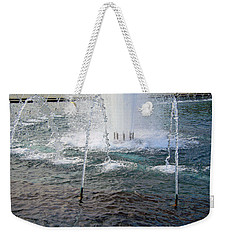 Weekender Tote Bag featuring the photograph A World War Fountain by Cora Wandel
