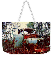 Weekender Tote Bag featuring the photograph Abandoned  Journey  by Michael Hoard