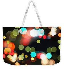 Abstract Colorful Round Bokeh Lights Weekender Tote Bag