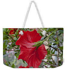 Abstract Hibiscus Weekender Tote Bag