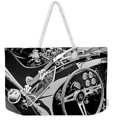 Ac Shelby Cobra Engine - Steering Wheel Weekender Tote Bag