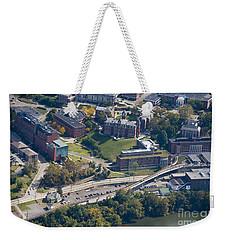 aerials of WVVU campus Weekender Tote Bag