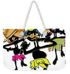 Weekender Tote Bag featuring the digital art African Dancers by Marvin Blaine