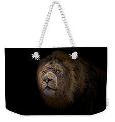 Weekender Tote Bag featuring the photograph African Lion by Peter Lakomy